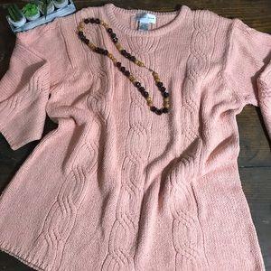 August Silk 100% Silk Crew Neck Sweater Size 2X